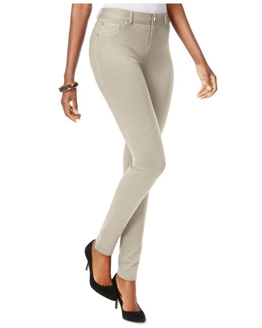INC International Concepts | Natural Petite Skinny-fit Ponte Pants | Lyst