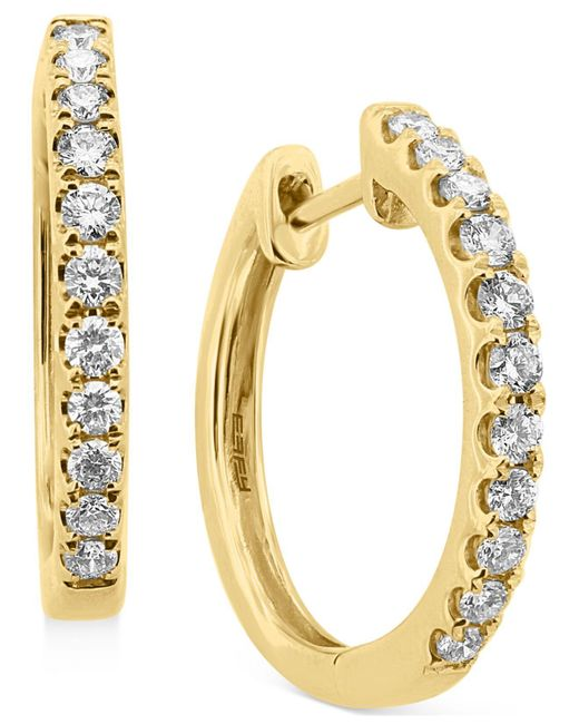 Effy Collection | Metallic Diamond Hoop Earrings (1/2 Ct. T.w.) In 14k Yellow, White Or Rose Gold | Lyst