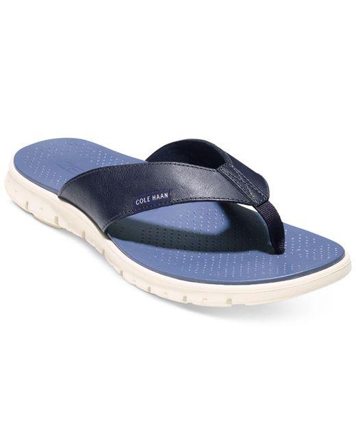 Cole Haan | Blue Men's Zerogrand Thong Sandals for Men | Lyst