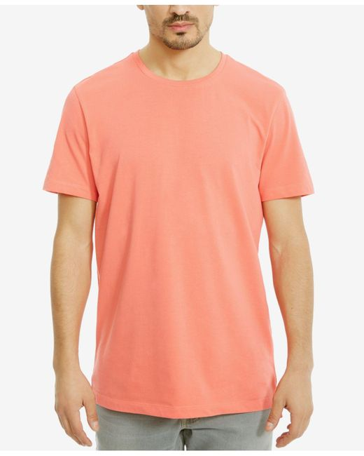 Kenneth Cole Reaction | Orange Men's Solid Cotton T-shirt for Men | Lyst