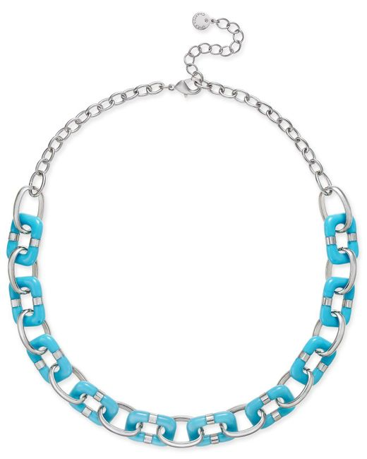 Charter Club | Metallic Resin Link Statement Necklace | Lyst