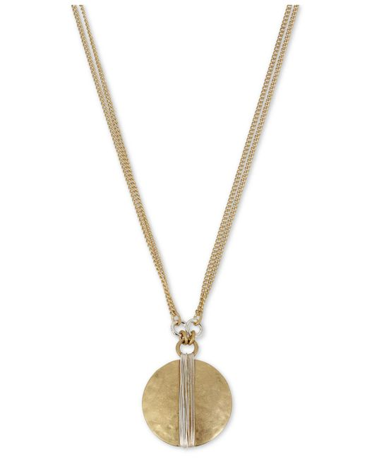 """Robert Lee Morris - Metallic Two-tone Wire-wrapped Pendant Necklace, 17"""" + 3"""" Extender - Lyst"""