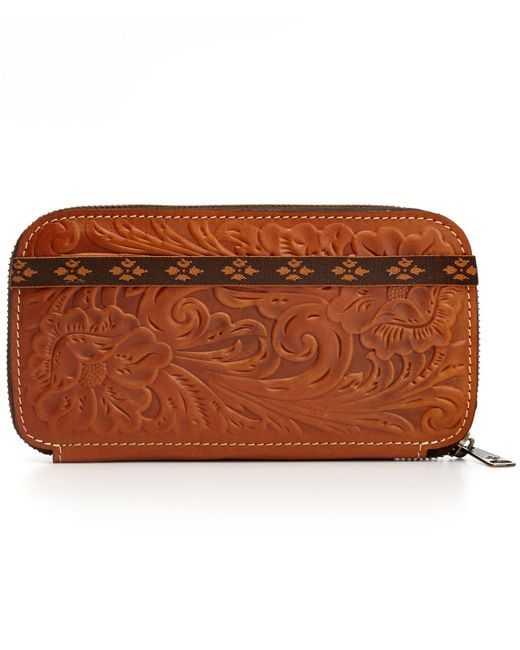 Patricia Nash   Brown Tooled Oria Wallet   Lyst