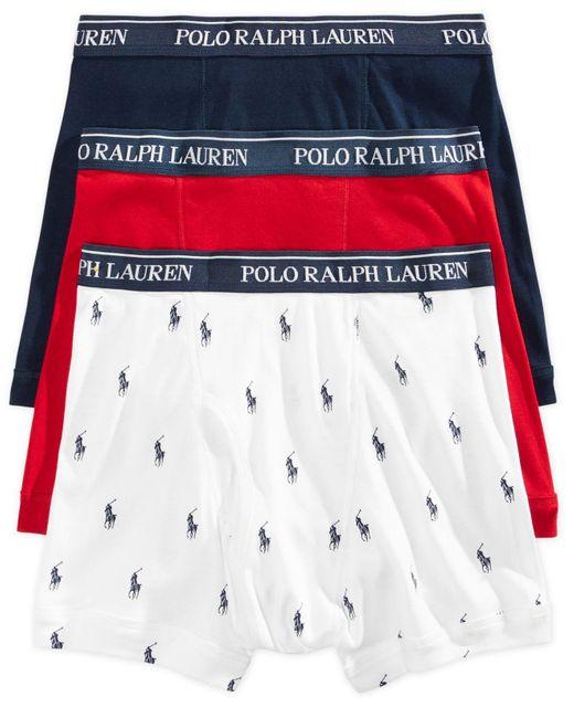 Polo Ralph Lauren | White Underwear, Boxer Briefs 3 Pack for Men | Lyst