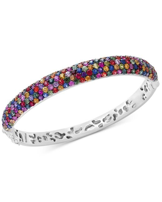 Effy Collection | Metallic Multicolor Sapphire Bangle Bracelet (10-1/2 Ct. T.w.) In Sterling Silver | Lyst