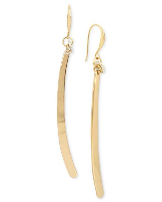 Robert Lee Morris | Metallic Gold-tone Stick Linear Drop Earrings | Lyst