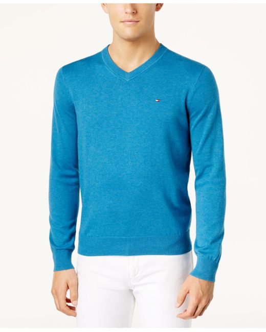 Tommy Hilfiger - Multicolor Signature Solid V-neck Sweater, Created For Macy's for Men - Lyst