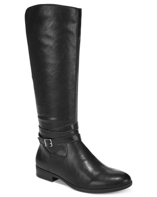 Style & Co.   Black Keppur Riding Boots   Lyst