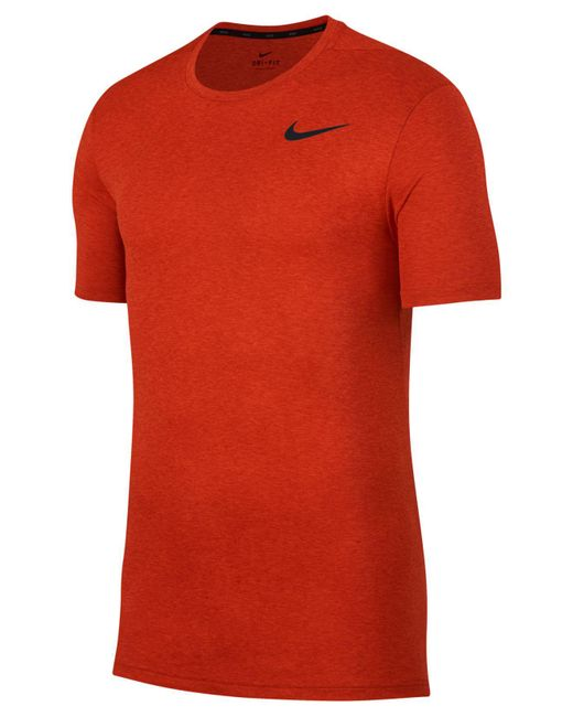 Nike - Orange Breathe Hyper Dry Training Top for Men - Lyst