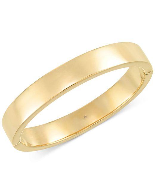 Signature Gold - Metallic Polished Hinge Bangle Bracelet In 14k Gold Over Resin - Lyst