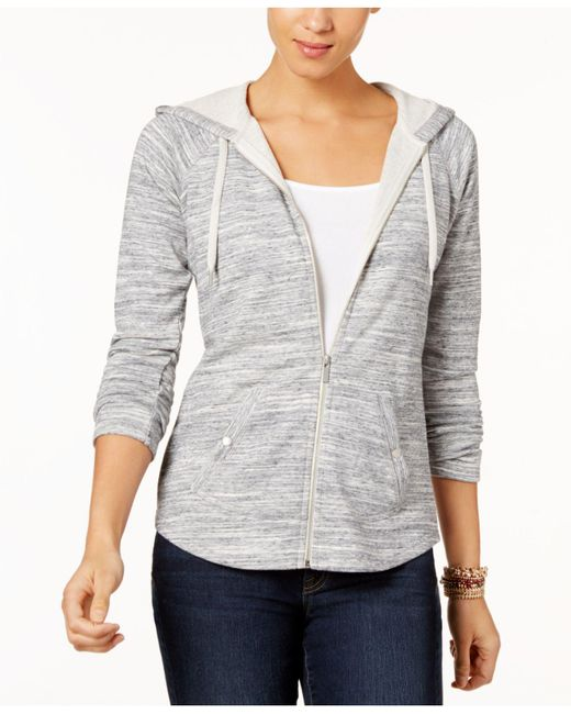 Style & Co. - Gray Petite French Terry Zip Hoodie, Created For Macy's - Lyst