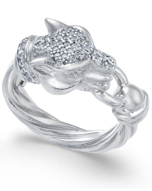 Macy's   Metallic Panther Swarovski Zirconia Statement Ring   Lyst