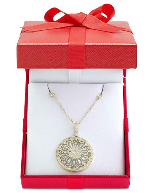 Effy Collection | Metallic Diamond Filigree Pendant Necklace (1 Ct. T.w.) In 14k Gold, White Gold Or Rose Gold | Lyst