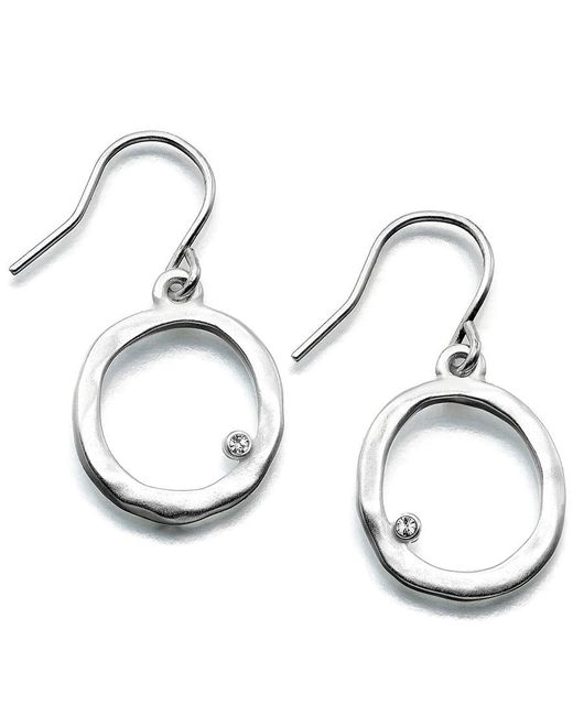 Kenneth Cole | Metallic Earrings, Silver-tone Circle | Lyst