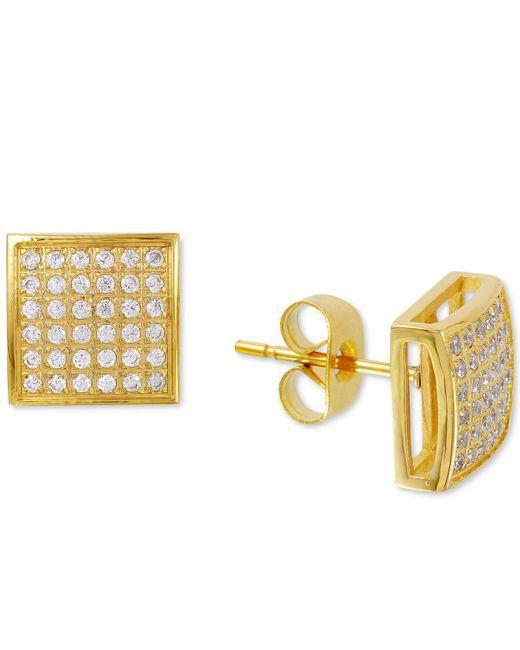 Macy's - Blue Men's Diamond Stud Earrings (1/3 Ct. T.w.) In Yellow Ip-plated Stainless Steel - Lyst