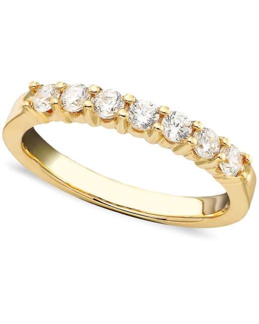 Macy's | Metallic Seven Diamond Band Ring In 14k Gold (1/2 Ct. T.w.) | Lyst