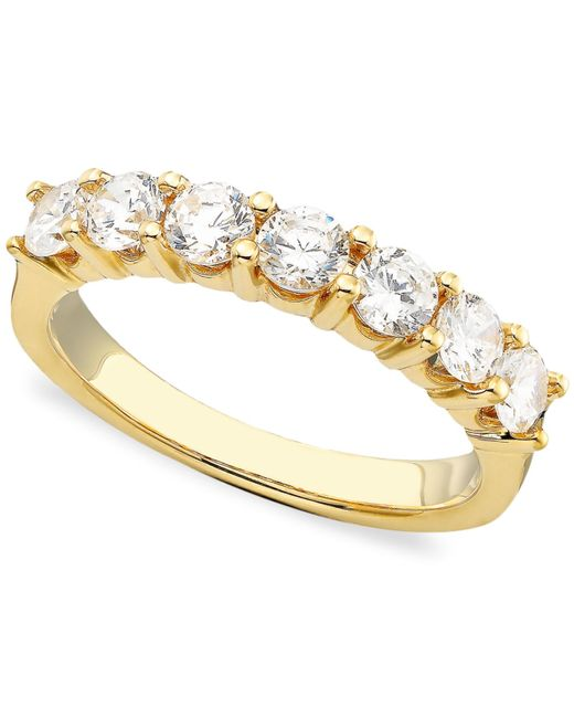 Macy's | Metallic Seven Diamond Band In 14k Gold Or White Gold (1 Ct. T.w.) | Lyst
