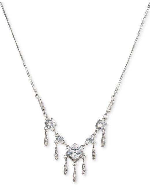 Carolee - Metallic Silver-tone Cubic Zirconia Statement Necklace - Lyst