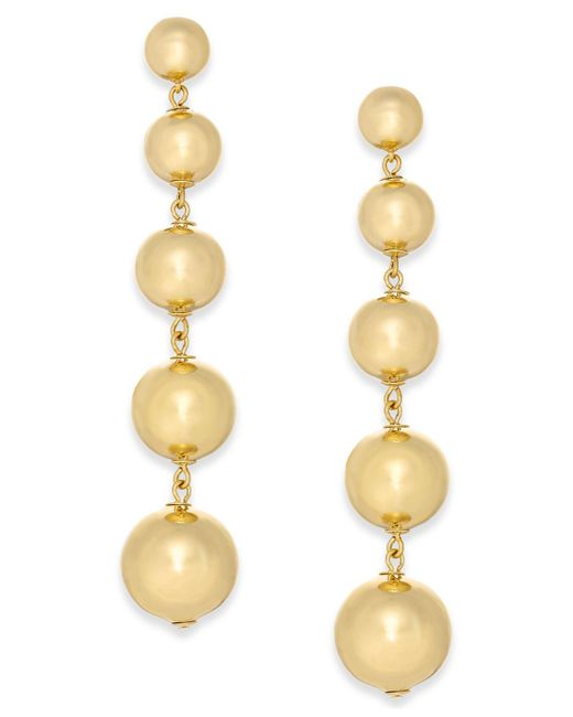 Kate Spade | Metallic Graduated Ball Linear Drop Earrings | Lyst