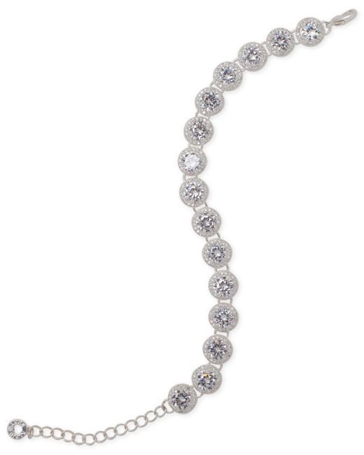 Anne Klein | Metallic Pavé Flex Bracelet | Lyst