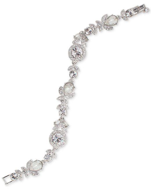 Givenchy | Metallic Multi-crystal Link Bracelet | Lyst