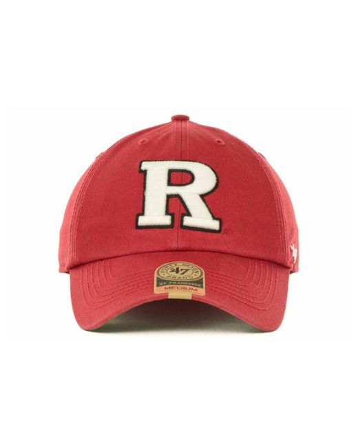61bd9843a48 ... 47 Brand - Red Rutgers Scarlet Knights Franchise Cap for Men - Lyst ...