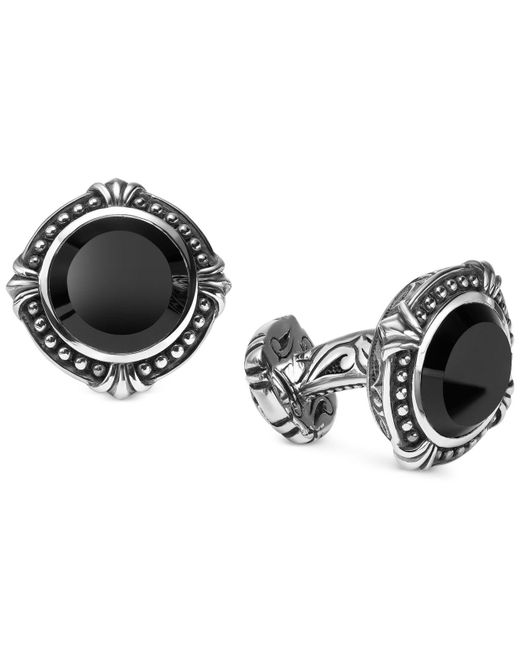 Scott Kay - Metallic Men's Onyx (13mm) Cuff Links In Sterling Silver for Men - Lyst