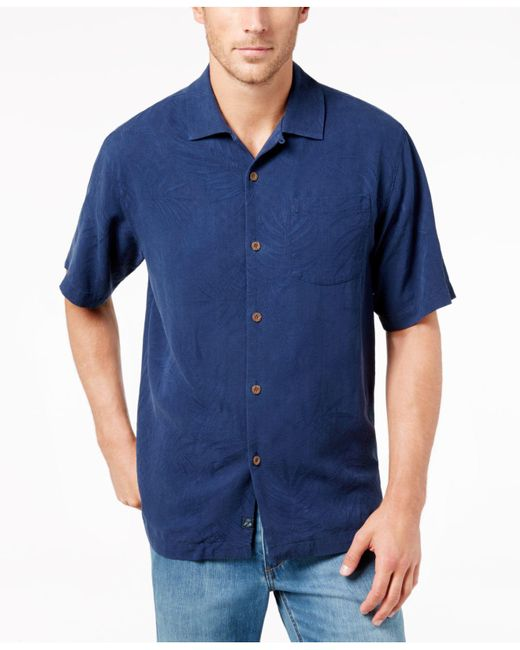 Tommy Bahama | Blue Men's Tiki Palms Silk Short-sleeve Shirt, A Macy's Exclusive Style for Men | Lyst