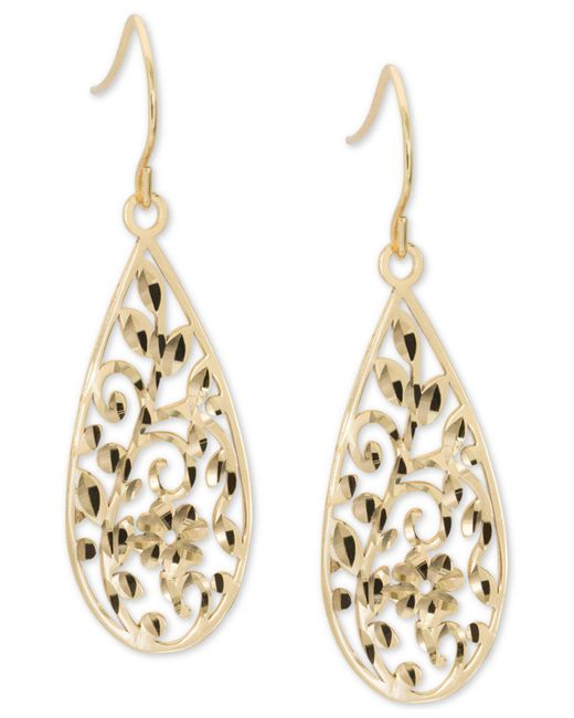 Giani Bernini - Metallic Filigree Drop Earrings In 18k Gold-plated Sterling Silver, Created For Macy's - Lyst