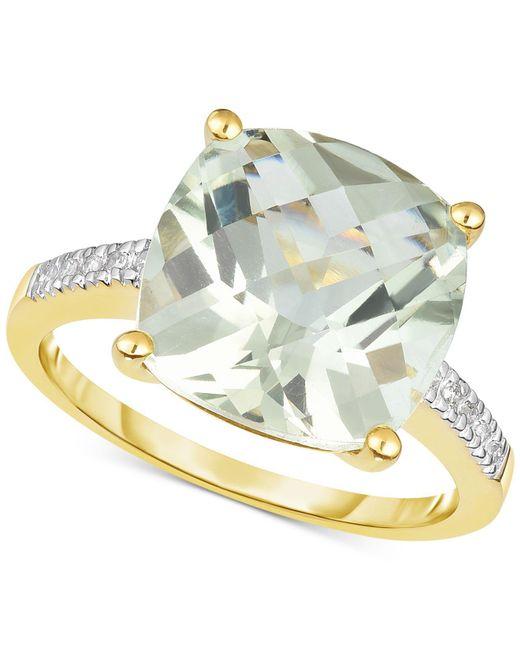 Macy's - Green Quartz (5 Ct. T.w.) & Diamond Accent Ring In 14k Gold - Lyst