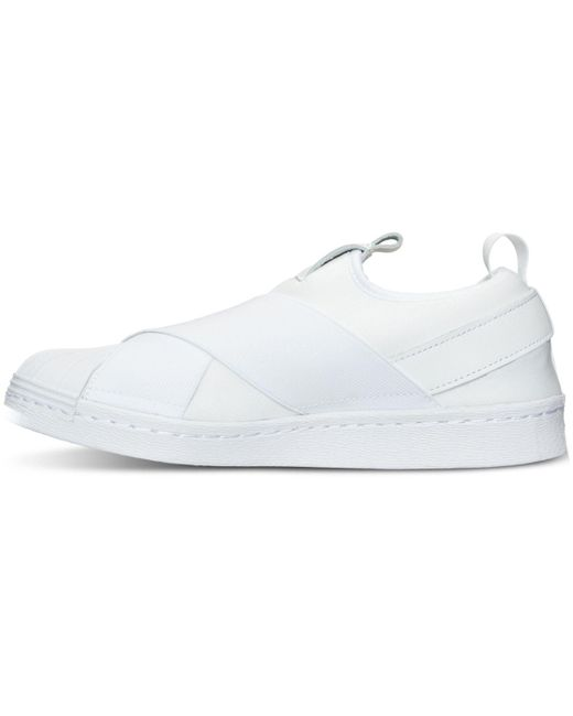 ... Adidas | Originals Superstar Slip On White Sneakers - White | Lyst ...