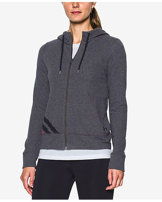 Under Armour | Gray Relaxed French Terry Hoodie | Lyst