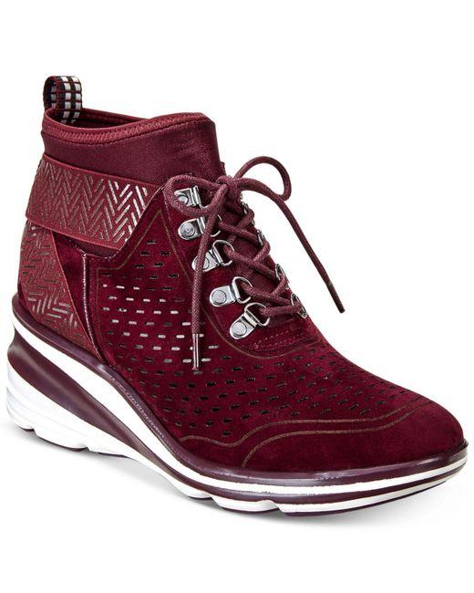 Jambu | Red Offbeat Sneaker Wedges | Lyst