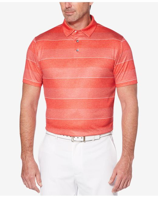PGA TOUR - Multicolor Pro Series Double-knit Stripe Performance Polo for Men - Lyst