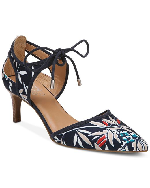 Franco Sarto - Blue Darlis Ankle-tie Pointed-toe Pumps - Lyst
