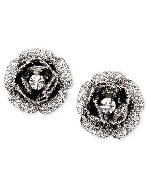 Betsey Johnson - Pink Rose Bud Stud Earrings - Lyst