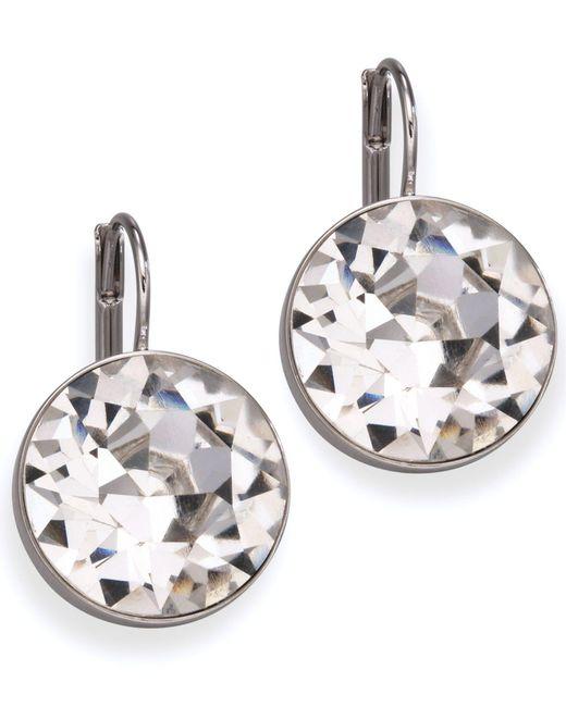 Swarovski | White Earrings, Bella Crystal Drops | Lyst