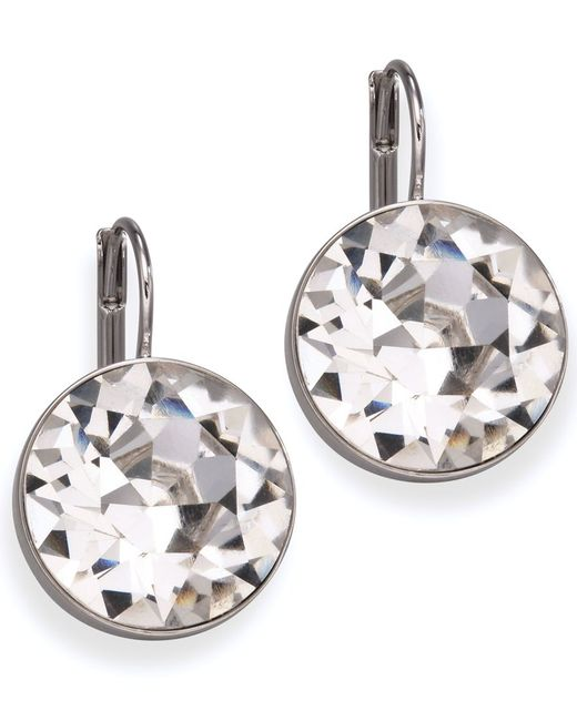 Swarovski | White Earrings, Bella Crystal Drops | Lyst