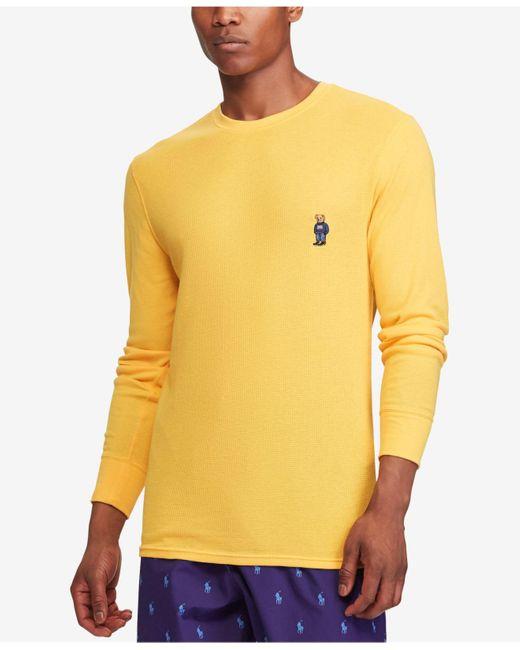 Polo Ralph Lauren | Yellow Men's Waffle-knit Pajama Shirt for Men | Lyst