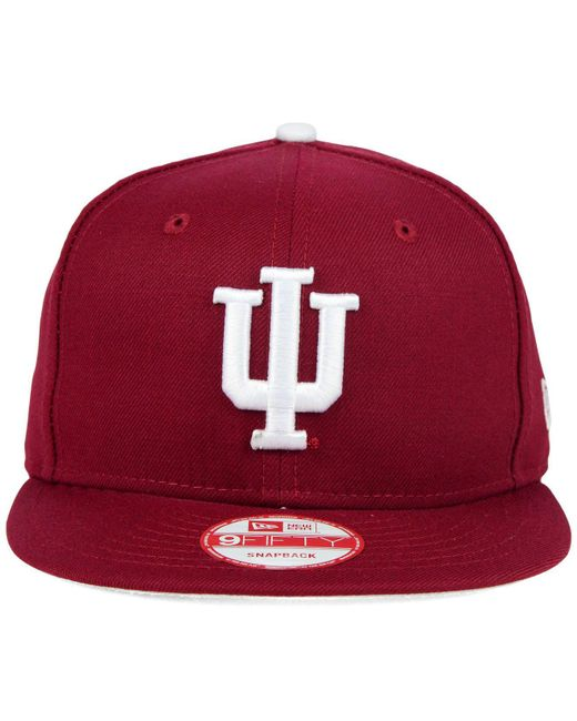 uk availability 7c121 8356a ... KTZ - Red Indiana Hoosiers Core 9fifty Snapback Cap for Men - Lyst ...