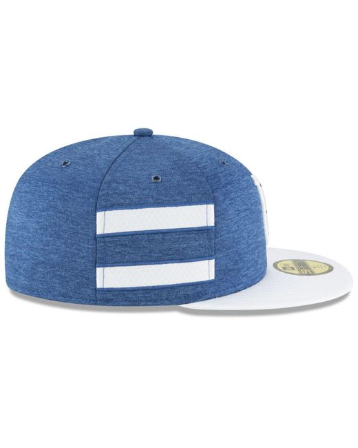 e54078751ed ... KTZ - Blue Indianapolis Colts On Field Sideline Home 59fifty Fitted Cap  for Men - Lyst ...