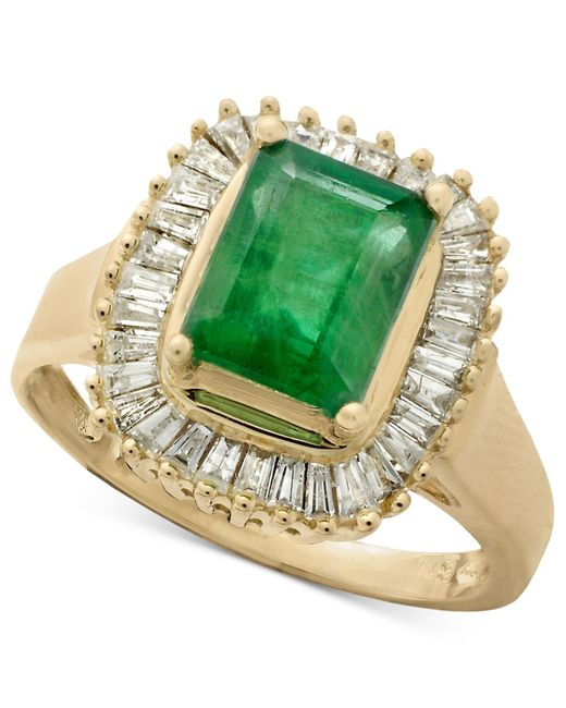 Effy Collection | Green Sapphire (1-5/8 Ct. T.w.) And Diamond (5/8 Ct. T.w.) Ring In 14k White Gold | Lyst