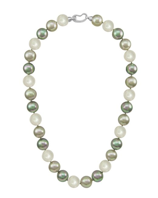 Majorica | White Sterling Silver Multicolor Organic Man Made Pearls | Lyst