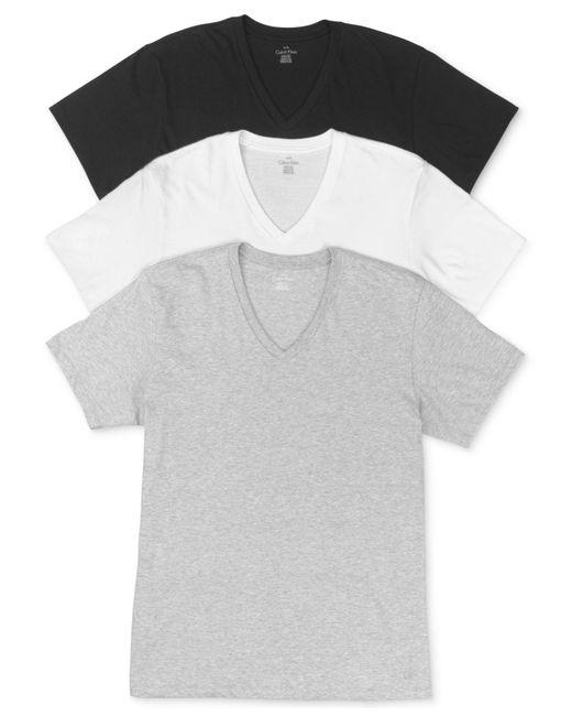 Calvin Klein - Gray Men's Classic V-neck T-shirt 3-pack for Men - Lyst