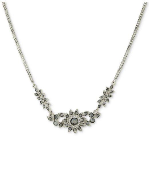 2028 | Metallic Silver-tone Hematite Crystal Collar Necklace | Lyst