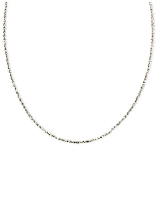 "Macy's | 14k White Gold Necklace, 20"" Seamless Rope 