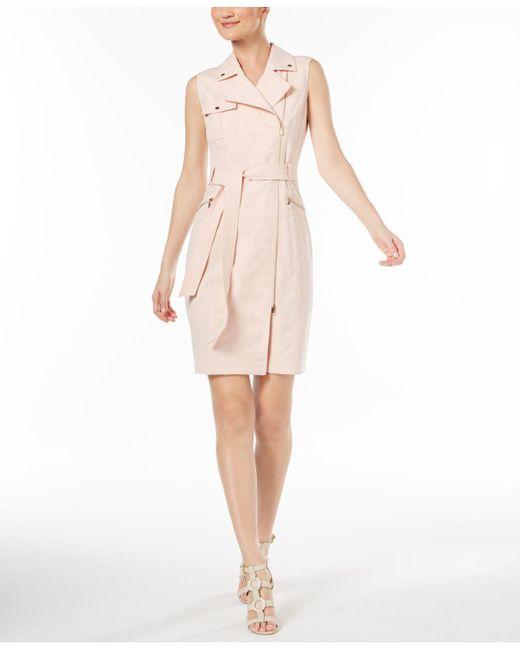 CALVIN KLEIN 205W39NYC - Pink Cross-dyed Lux Moto Dress - Lyst