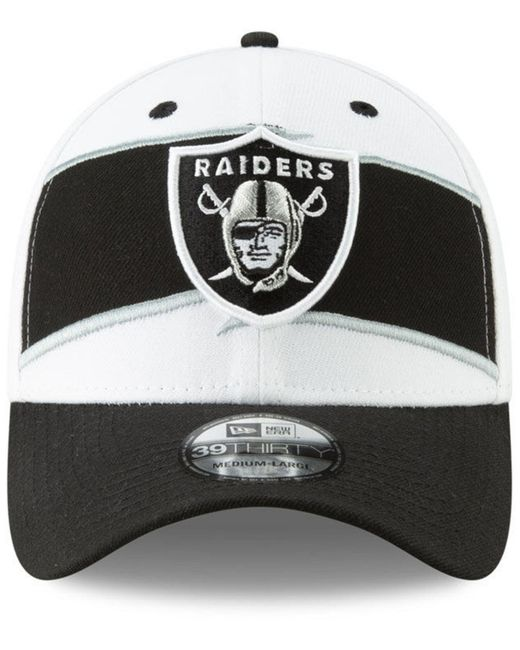 buy popular cd9ee eb556 ... KTZ - Black Oakland Raiders Thanksgiving 39thirty Cap for Men - Lyst ...