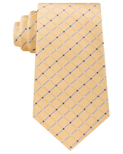 Michael Kors   Yellow Men's Metropolis Grid Tie for Men   Lyst