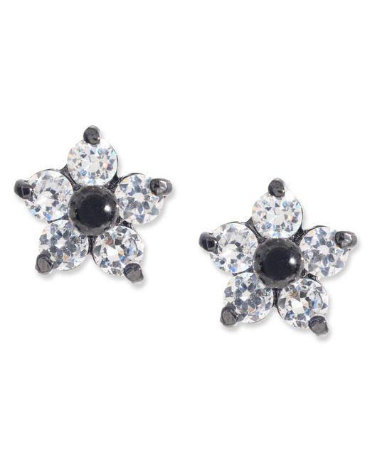 Betsey Johnson | Black Crystal Star Stud Earrings | Lyst